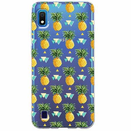 Etui na Samsung Galaxy A10 - Ananasowe szaleństwo.