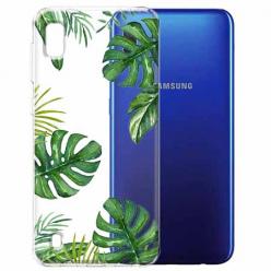 Etui na Samsung Galaxy A10 - Zielone liście palmowca
