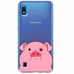 Etui na Samsung Galaxy A10 - Słodka różowa świnka.