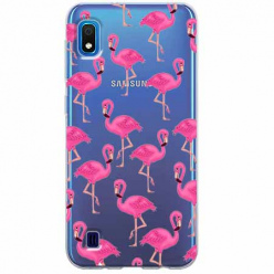 Etui na Samsung Galaxy A10 - Różowe flamingi.