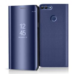 Etui na Huawei P Smart 2018 - Flip Clear View z klapką - Granatowy.