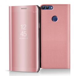 Etui na Huawei P Smart 2018 - Flip Clear View z klapką - Różowy.