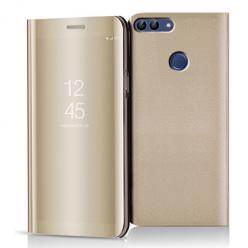 Etui na Huawei P Smart 2018 - Flip Clear View z klapką - Złoty.