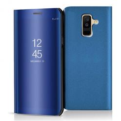 Etui na Samsung Galaxy A6 Plus 2018 - Flip Clear View z klapką - Niebieski.