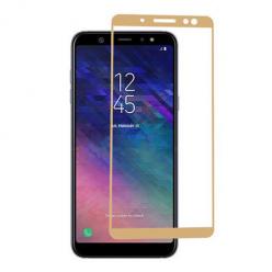 Samsung Galaxy A6 Plus 2018 hartowane szkło 5D Full Glue - Złoty.