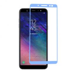 Samsung Galaxy A6 Plus 2018 hartowane szkło 5D Full Glue - Niebieski.
