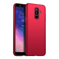 Etui na telefon Galaxy A6 Plus 2018 - Slim MattE - Czerwony.