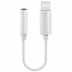 Przejściówka kabel Jack na słuchawki Apple iPhone adapter- Biały