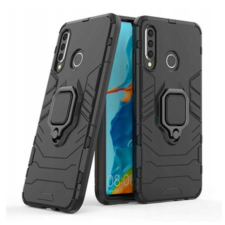 Etui na Huawei Honor 20 Lite - Pancerne Magnet Ring - Czarny.