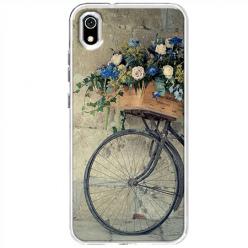 Etui na Xiaomi Redmi 7A - Rower z kwiatami