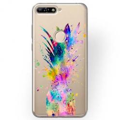 Etui na Huawei Y6 Prime 2018 - Watercolor ananasowa eksplozja.