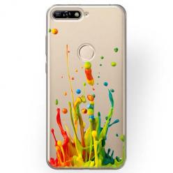 Etui na Huawei Y6 Prime 2018 - Kolorowy splash.