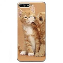 Etui na Huawei Y6 Prime 2018 - Jak pies z kotem