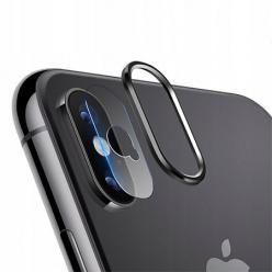 iPhone X Hartowane szkło na Tylny aparat z ramką Alu
