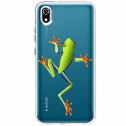 Etui na telefon Huawei Y5 2019 - Zielona żabka.