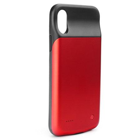 iPhone XS Etui Power bank bateria zewnętrzna 300mAh - Czerwony