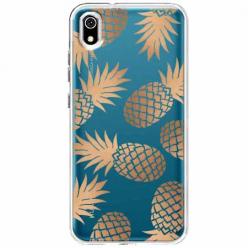 Etui na telefon Huawei Y5 2019 - Złote ananasy.
