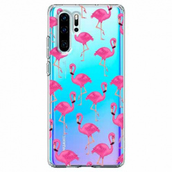 Etui na telefon Huawei P30 Pro - Różowe flamingi.