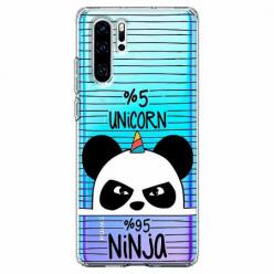 Etui na telefon Huawei P30 Pro - Ninja Unicorn - Jednorożec.
