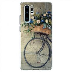 Etui na telefon Huawei P30 Pro - Rower z kwiatami