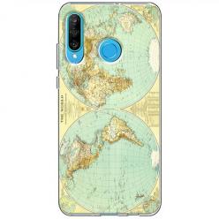 Etui na telefon Huawei P30 Lite - Mapa świata