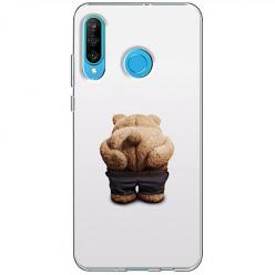 Etui na telefon Huawei P30 Lite - Miś z wypiętą pupą