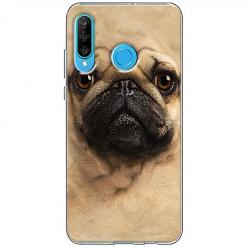 Etui na telefon Huawei P30 Lite - Pies Szczeniak face 3d