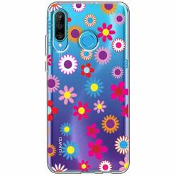 Etui na telefon Huawei P30 Lite - Kolorowe stokrotki.