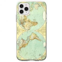 Etui na telefon Apple iPhone 11 Pro Max - Mapa świata