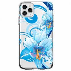 Etui na telefon Apple iPhone 11 Pro Max - Niebieski kwiat północy.