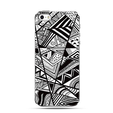 Etui na Apple iPhone 6 plus - Czarno białe trójkąty
