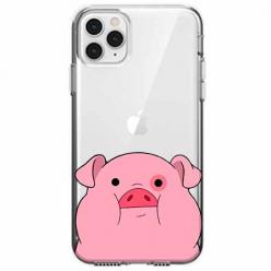 Etui na telefon Apple iPhone 11 Pro Max - Słodka różowa świnka.