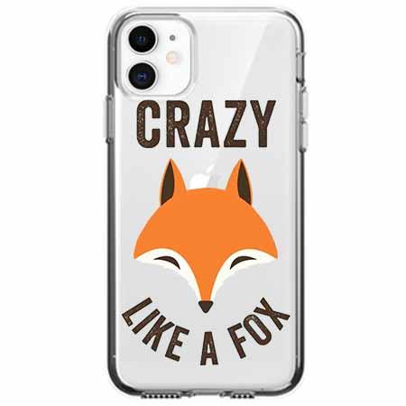 Etui na telefon Apple iPhone 11 - Crazy like a fox.