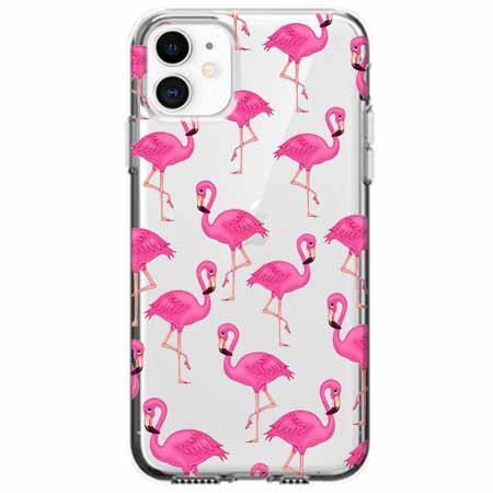 Etui na telefon Apple iPhone 11 - Różowe flamingi.