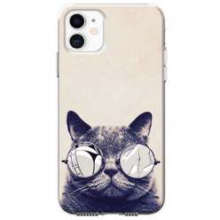 Etui na telefon Apple iPhone 11 - Kot w okularach