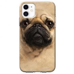 Etui na telefon Apple iPhone 11 - Pies Szczeniak face 3d