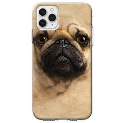 Etui na telefon Apple iPhone 11 Pro - Pies Szczeniak face 3d