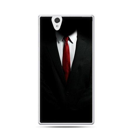 Czerwony krawat etui z nadrukiem dla  Xperia Z