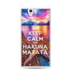 Keep calm and Hakuna Matata etui z nadrukiem dla Xperia Z