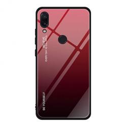 Etui na telefon Xiaomi Redmi Note 7 - Ombre Glass - Czarno/Czerwony.