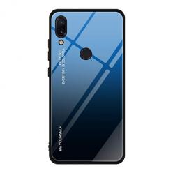 Etui na telefon Xiaomi Redmi 7 - Ombre Glass - Czarno/Niebieski.