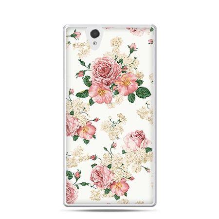 Polne kwiaty etui z nadrukiem dla  Xperia Z