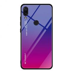 Etui na telefon Huawei P Smart 2019 - Ombre Glass - Niebiesko/Różowy.