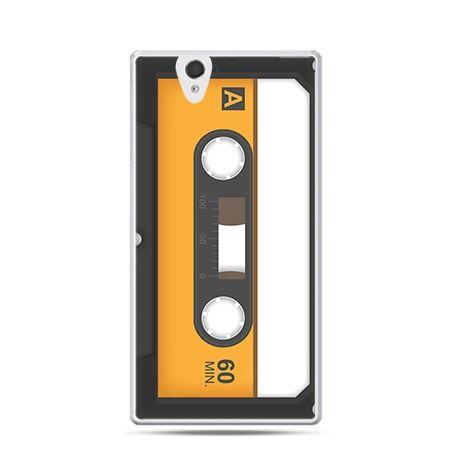 Kaseta magnetofonowa etui z nadrukiem dla  Xperia Z