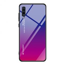 Etui na telefon Samsung Galaxy A70 - Ombre Glass - Niebiesko/Różowy.