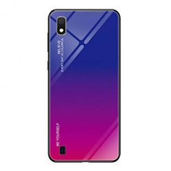 Etui na telefon Samsung Galaxy A10 - Ombre Glass - Niebiesko/Różowy.