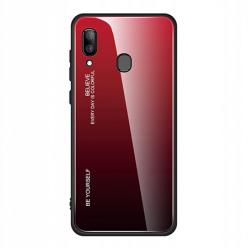 Etui na telefon Samsung Galaxy A40 - Ombre Glass - Czarno/Czerwony.