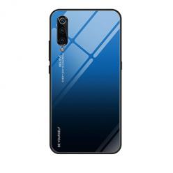 Etui na telefon Xiaomi Mi 9 - Ombre Glass - Czarno/Niebieski.