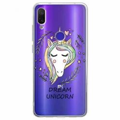 Etui na Xiaomi Redmi Note 7 Pro - Dream unicorn - Jednorożec.