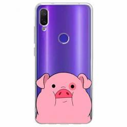 Etui na Xiaomi Redmi Note 7 Pro - Słodka różowa świnka.